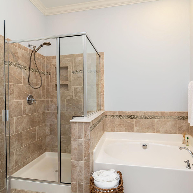Master Shower + Soaking Tub