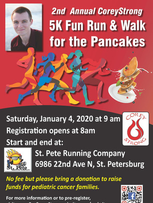 2nd Annual CoreyStrong Fun Run January 4, 2020