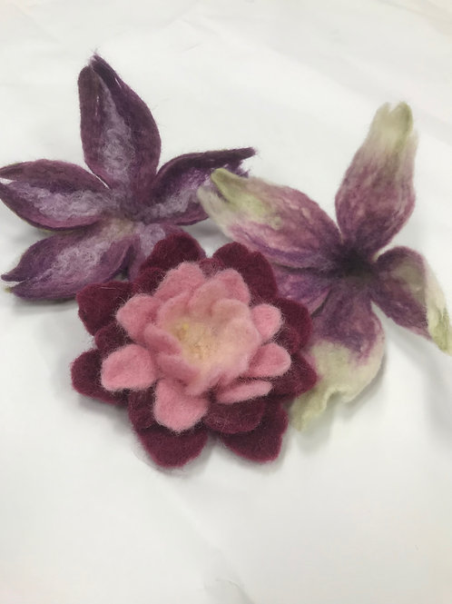 Felted Flower Workshop • Ages 14 to Adult