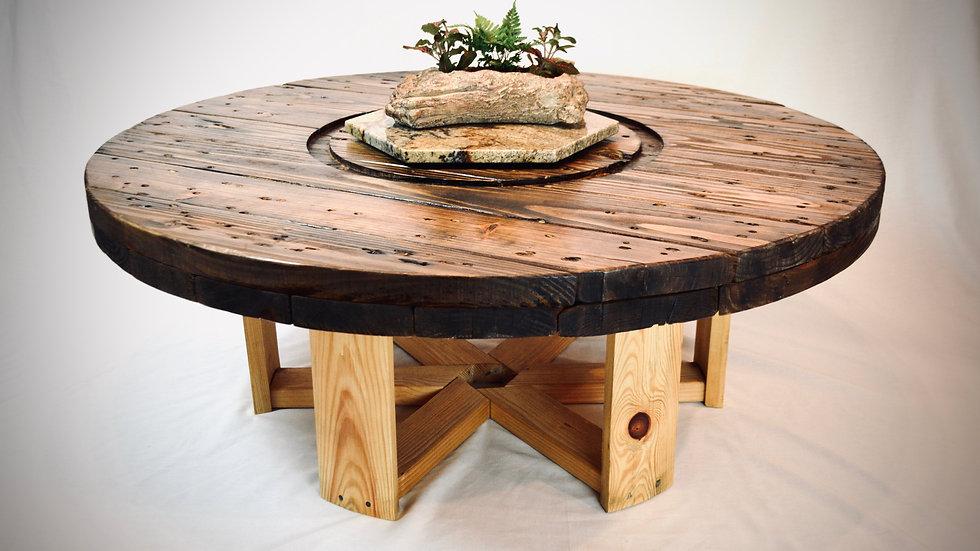 Rustic Spool Coffee Table