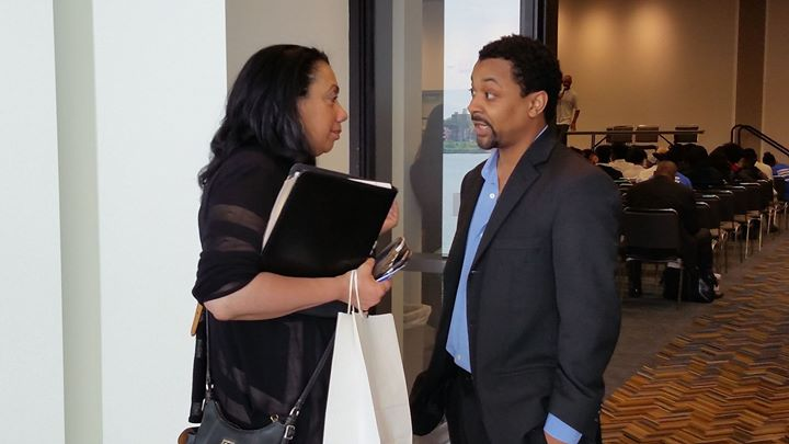 Gail Perry Mason and Jason Dixon of Urban Nation Radio chopping it up