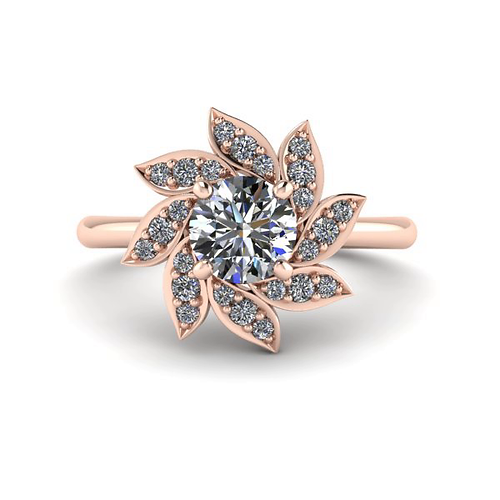 party vine wedding diamond jewelry sparkling floral aquamarine transparent bi bridal rings silver fine lucky engagement leaf flower ring sterling