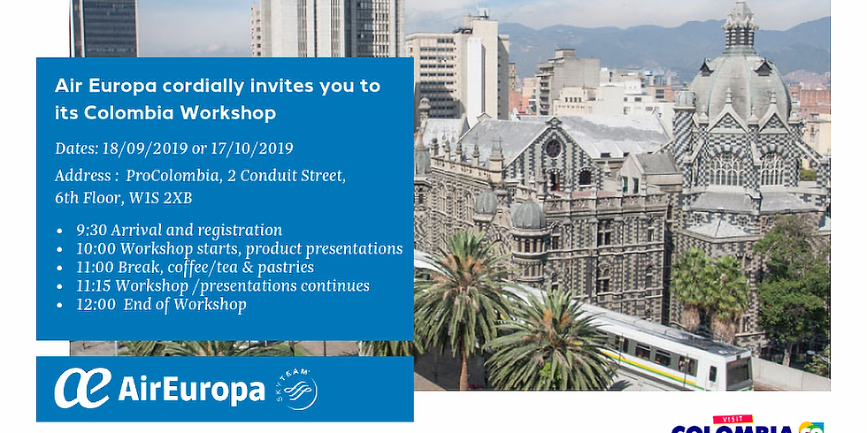 Colombia Workshop - 17th October 2019