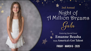 Emanne Beasha to Headline the 'Night of a Million Dreams Gala' to Support Florida Children