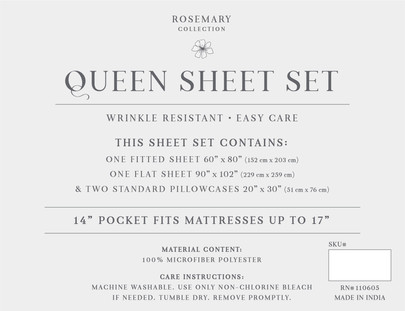 Rosemary Sheet Insert