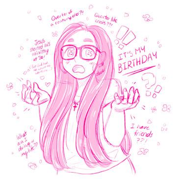 25th Birthday Sketch