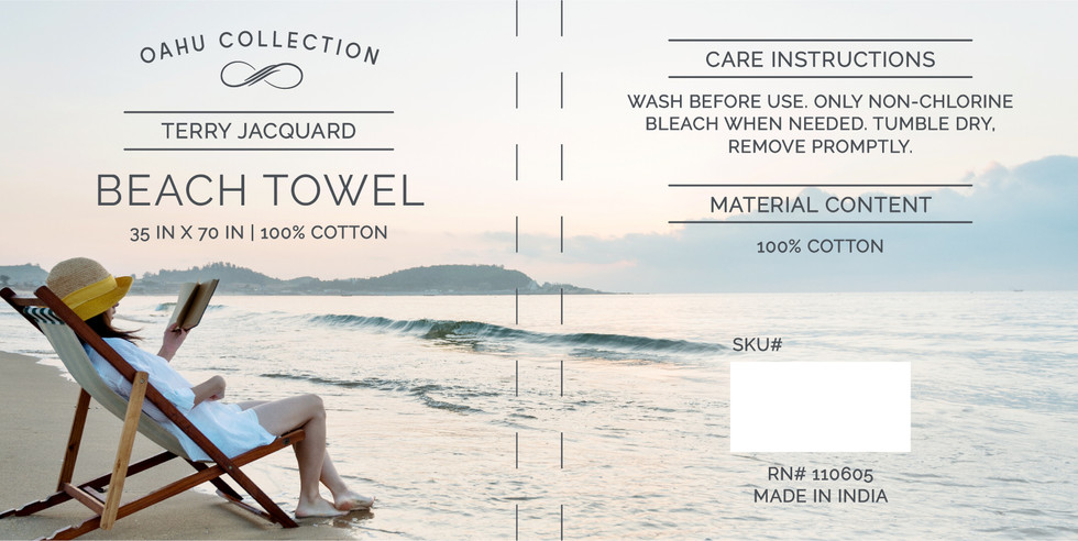 Oahu Towel Clamshell
