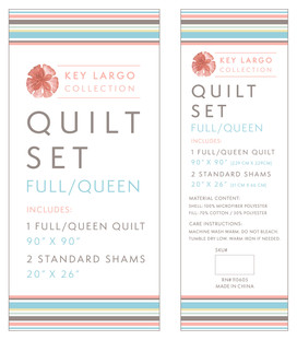 Key Largo Quilt Insert