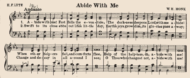 """Sheet Music of """"Abide With Me"""""""