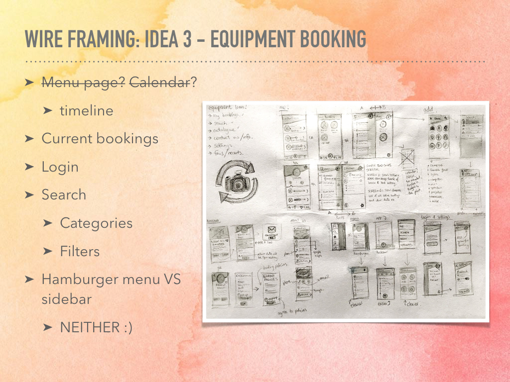Equipment Booking