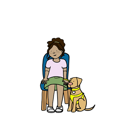 Young Girl_Guide Dog_Sitting_G3.png