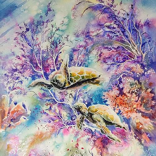 Original watercolour painting.
