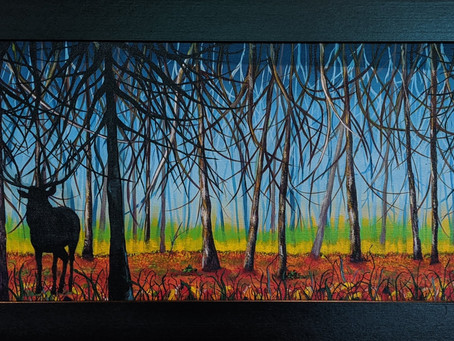"""""""Acrylic Painting is like putting layers of warm chocolate on a surface..."""" Bev Galbraith"""