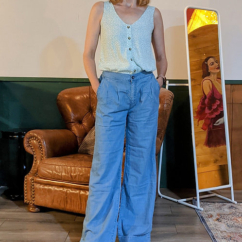 Thin organic cotton jean.