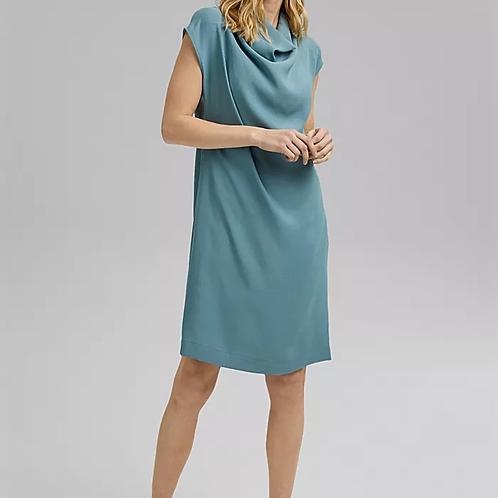 Turquoise. Draped dress
