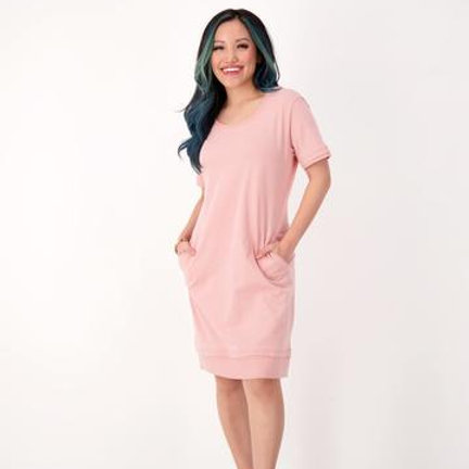 dress in pink sand