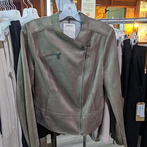 478  Vegan suede biker jacket