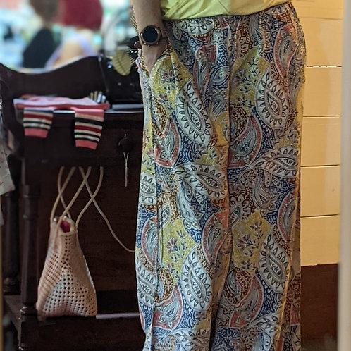 printed EcoVero pants