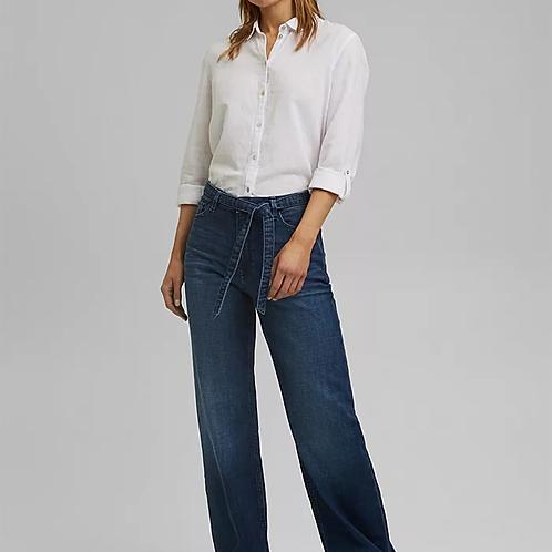Wide leg organic cotton summer jeans
