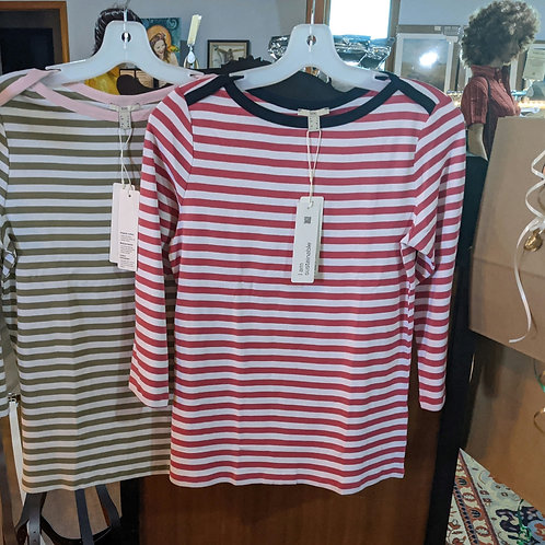 Striped 3/4 sleeve shirts