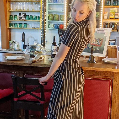 Cornelia tie waist shirt dress