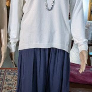 Viscose double fabric wide leg pant