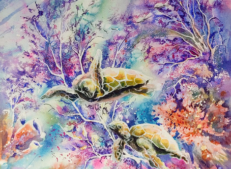 Living watercolours by Julie Schroeder