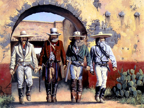 Lone Star Justice  30x40 canvas giclee print