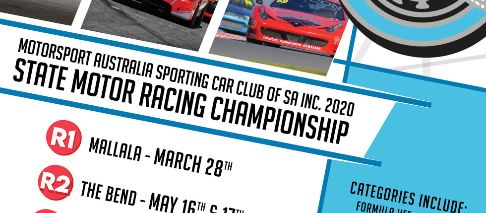 Motorsport Dates for 2020