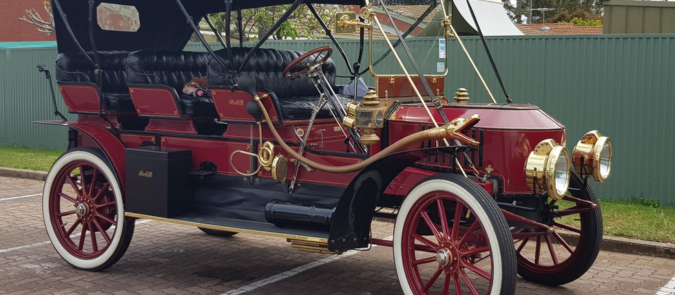 Stanley Steamer heads for Barossa Vintage Collingrove Hillclimb!
