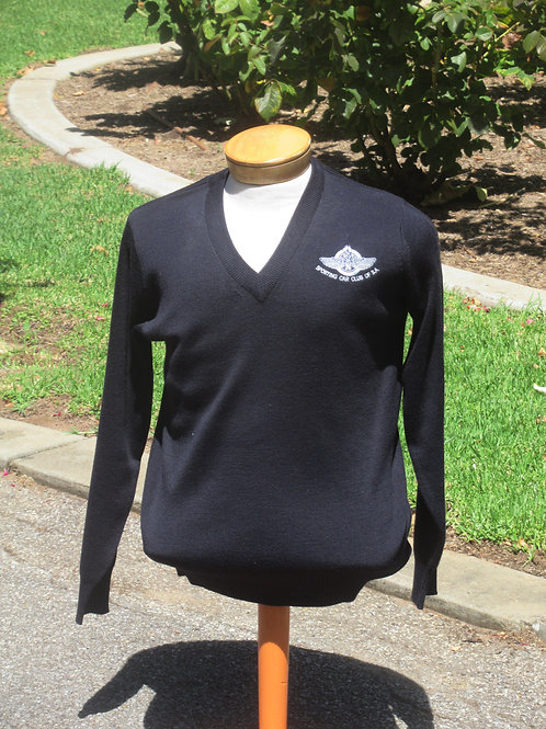 Navy Wool Blend Pullovers