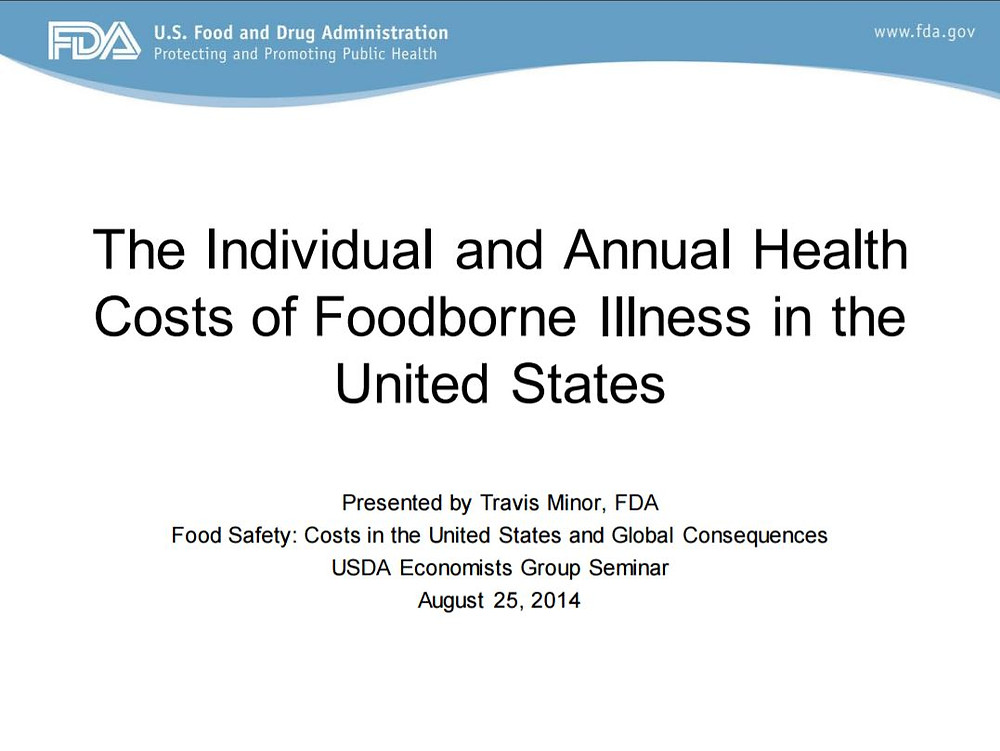 Title Slide: The Individual and Annual Health Costs of Foodborne Illness in the United States