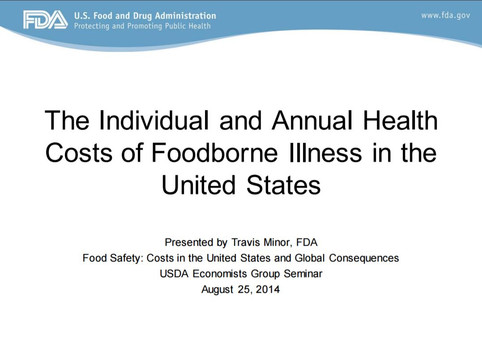 Food Safety: Cost in the U.S. and Global consequences