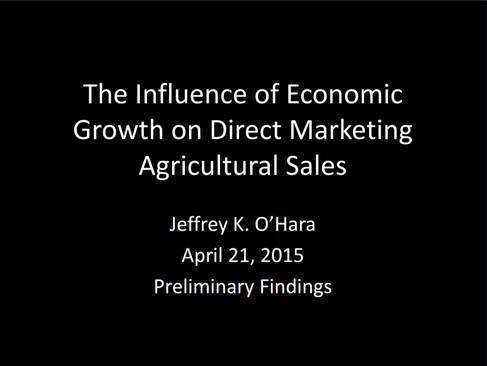 The Influence of Economic Growth on Direct Marketing Agriculture Sales