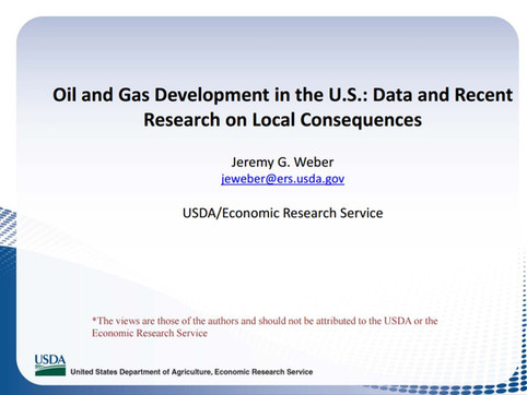 Shale & Oil Gas Development: Data and Research on Local Consequences