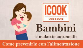 Bambini e malattie autunnali: come prevenirle con l'alimentazione - 24 OTTOBRE 2017 dalle 19:00