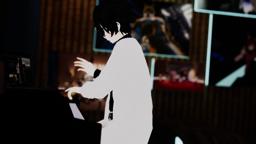 Naku getting ready for his set