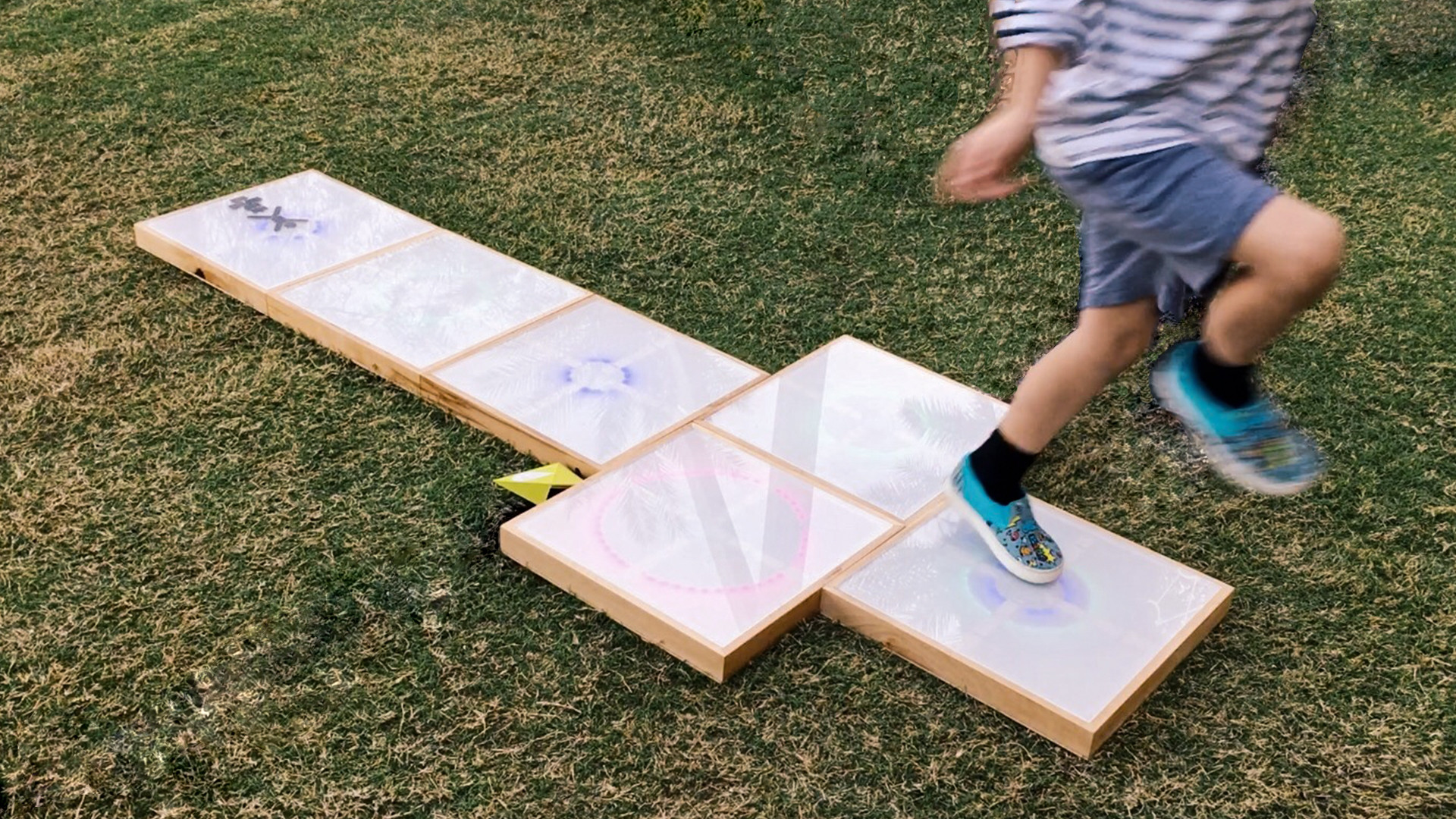 Puddle Hopscotch, Arduino-based interactive installation