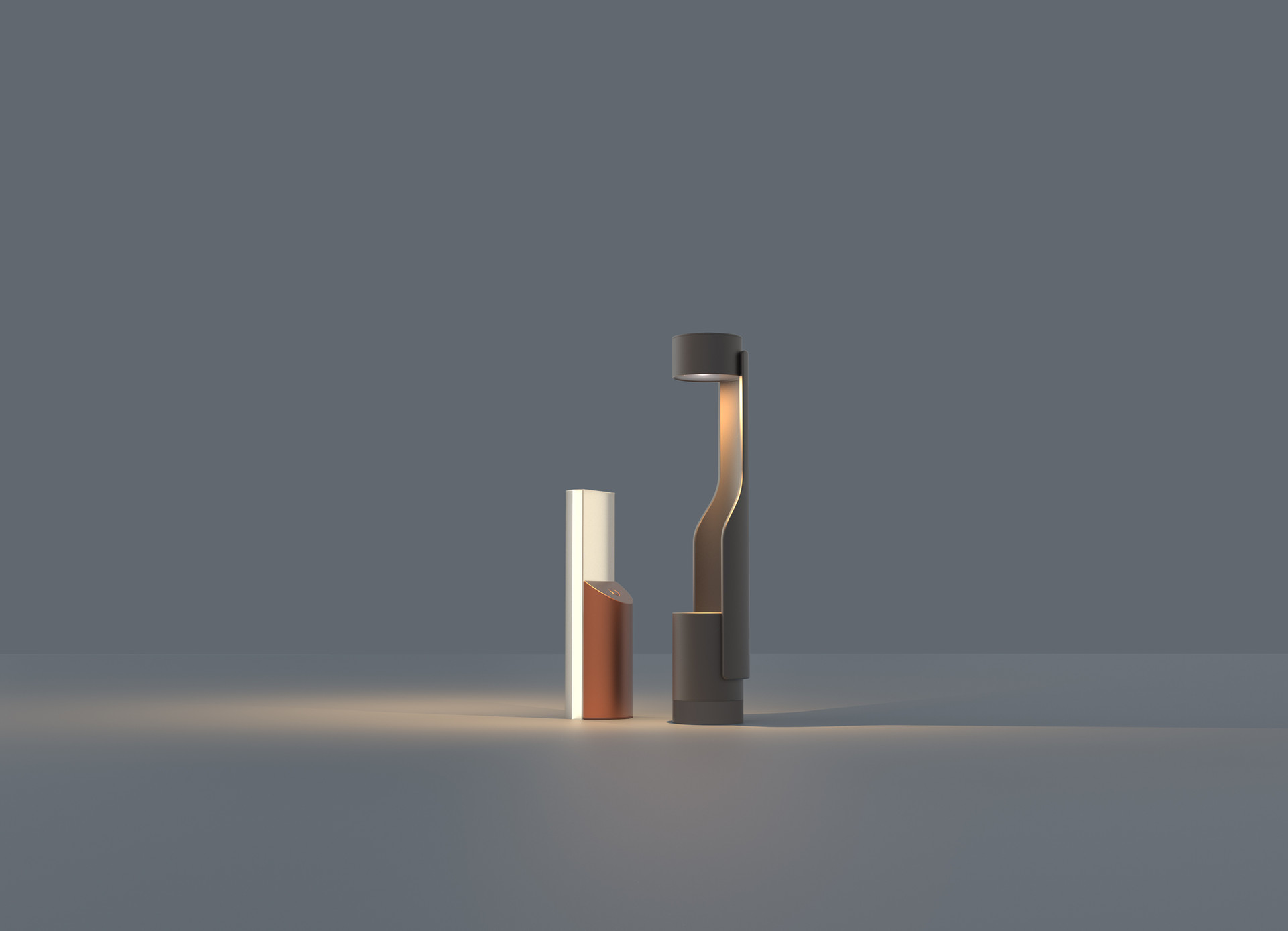 Lumina, indoor/outdoor solar lighting set