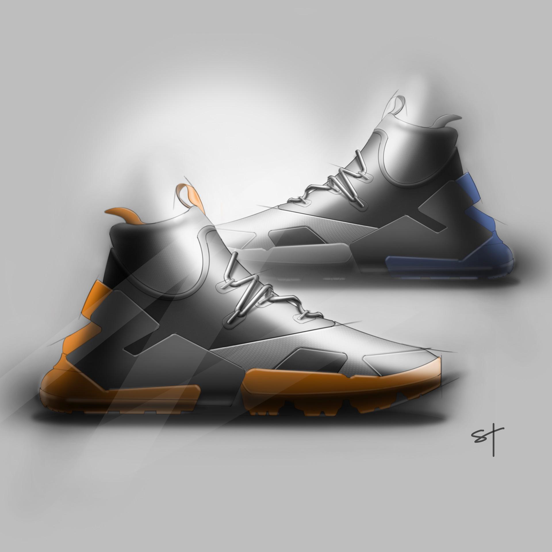 Digital Sketch of a Shoe Design Concept