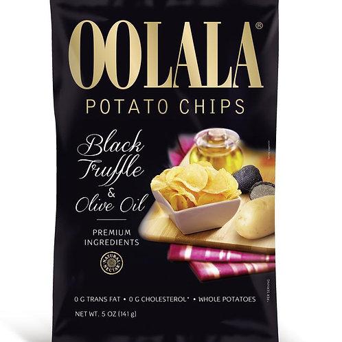 Oolala Potato Chips - Black Truffle & Olive Oil 141g