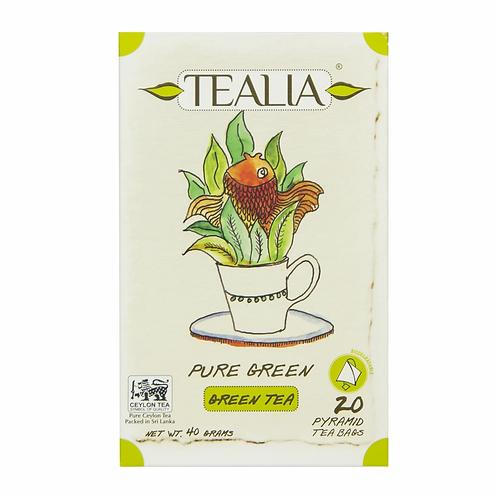 Tealia Organic Pyramid Tea Bags - Green Tea 40g