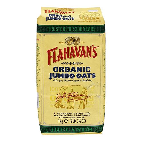 Flahavan's Irish Organic Oats - Jumbo 1kg