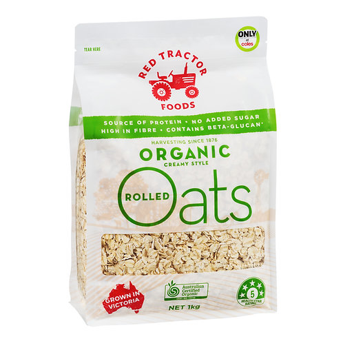 Red Tractor Foods Rolled Oats - Organic Creamy Style 1kg