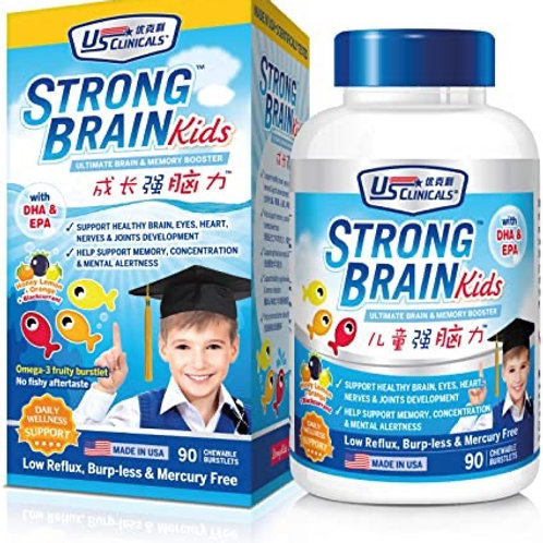 US Clinicals Strong Kids Brain & Memory Booster Burstlets