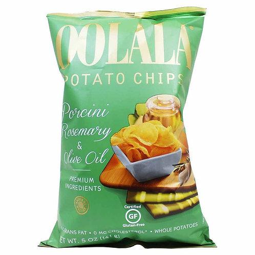 Oolala Potato Chips - Porcini Rosemary & Olive Oil 141g