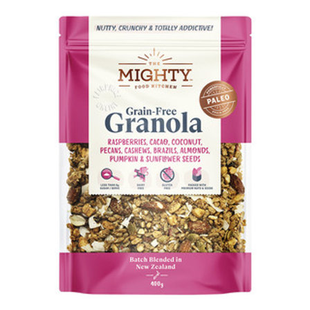 The Mighty Food Kitchen Grain-Free Granola - Fruits, Nuts &Seeds 400g