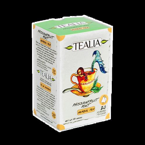 Tealia Pyramid Infusion Tea Bags - Passionfruit Mint 40g