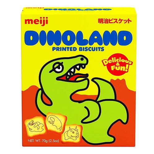 Meiji Printed Biscuits - Dinoland 70g