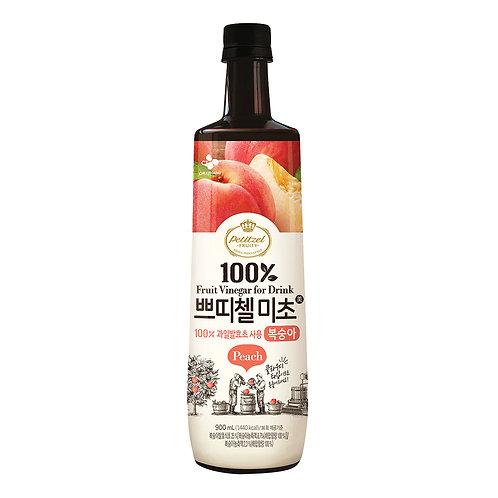 CJ Petitzel Fruity Fruit Vinegar Drink - Peach 900ml